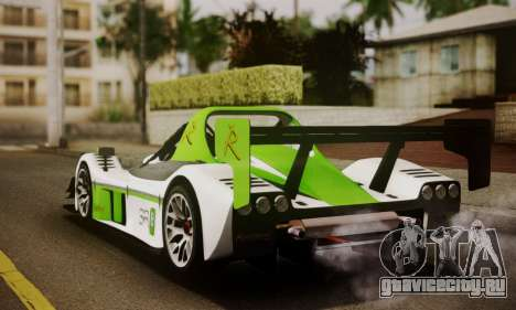 Radical SR8 Supersport 2010 для GTA San Andreas вид слева