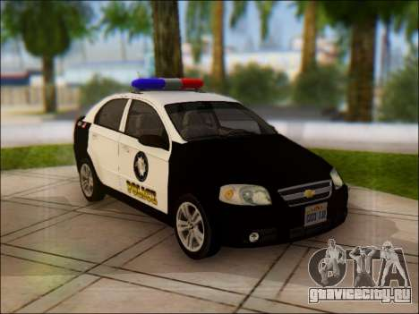 Chevrolet Aveo Police для GTA San Andreas