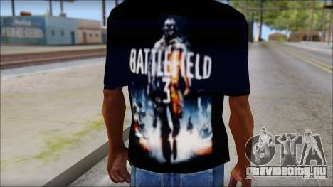 Battlefield 3 Fan Shirt для GTA San Andreas третий скриншот