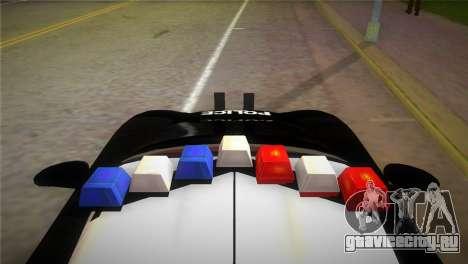Porsche Carrera GT Police для GTA Vice City вид сзади слева