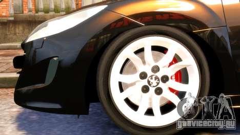 Peugeot RCZ для GTA 4 вид справа