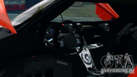 Koenigsegg Agera R 2013 для GTA 4 вид сверху