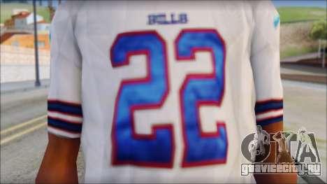 NY Buffalo Bills White для GTA San Andreas третий скриншот