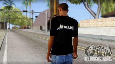 Metallica T-Shirt для GTA San Andreas второй скриншот