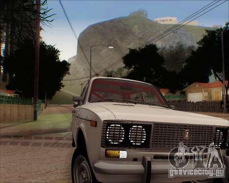 ВАЗ 2106 Tuneable для GTA San Andreas вид сзади