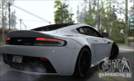 Aston Martin V12 Vantage S 2013 для GTA San Andreas вид сзади