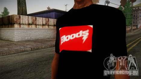 Bloods T-Shirt для GTA San Andreas третий скриншот