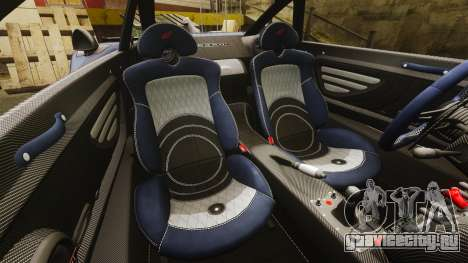Pagani Zonda Tricolore для GTA 4 вид изнутри