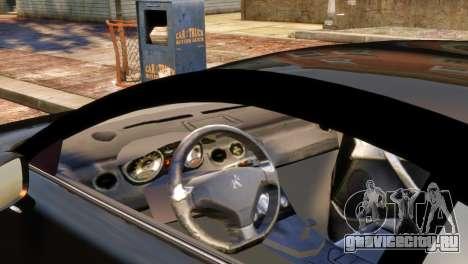 Peugeot RCZ для GTA 4 вид сзади слева