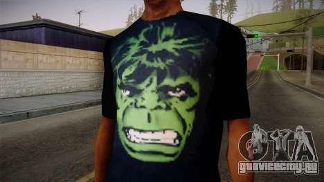 HULK T-Shirt для GTA San Andreas третий скриншот