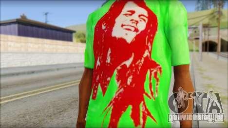 Bob Marley Jamaica T-Shirt для GTA San Andreas третий скриншот