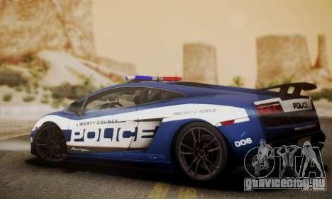 Lamborghini Gallardo LP570-4 2011 Police для GTA San Andreas вид слева