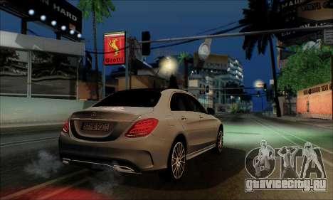 Mercedes-Benz C250 2014 V1.0 EU Plate для GTA San Andreas вид сзади слева