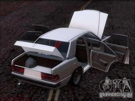Mercedes Benz 190E Drift V8 для GTA San Andreas салон