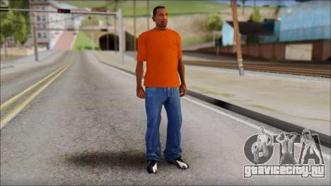 Fred Perry T-Shirt Orange для GTA San Andreas третий скриншот