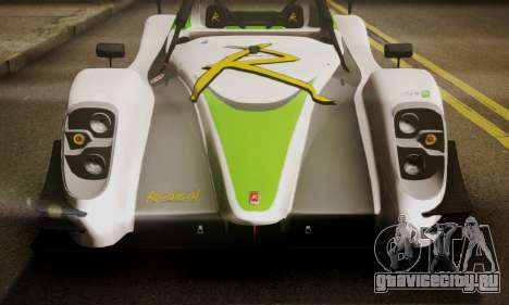 Radical SR8 Supersport 2010 для GTA San Andreas вид сзади