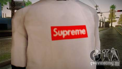 Supreme T-Shirt для GTA San Andreas третий скриншот