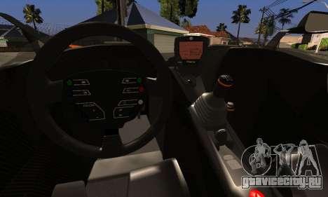 KTM X-Bow R 2011 для GTA San Andreas вид изнутри
