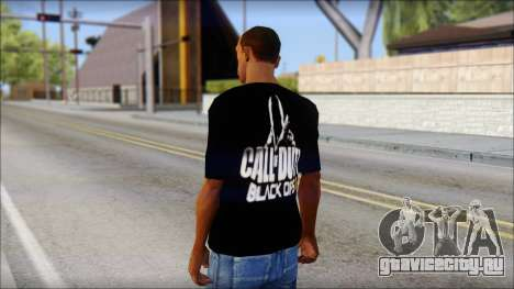 COD Black Ops 2 Fan T-Shirt для GTA San Andreas второй скриншот