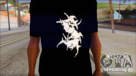 Sepultura Logo T-Shirt для GTA San Andreas третий скриншот