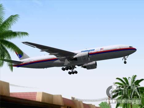 Boeing 777-2H6ER Malaysia Airlines для GTA San Andreas вид сбоку