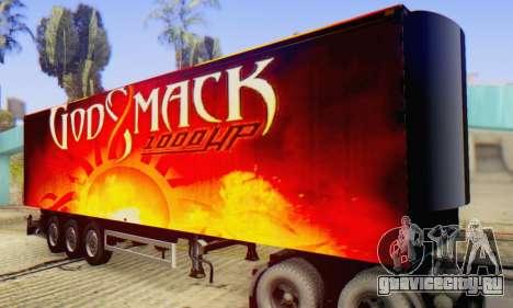 Godsmack - 1000hp Trailer 2014 для GTA San Andreas вид сзади