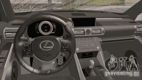 Lexus IS350 FSport 2014 Hellaflush для GTA San Andreas вид справа