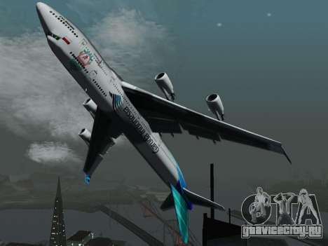 Boeing 747-400 Гаруда Индонезия для GTA San Andreas вид сзади