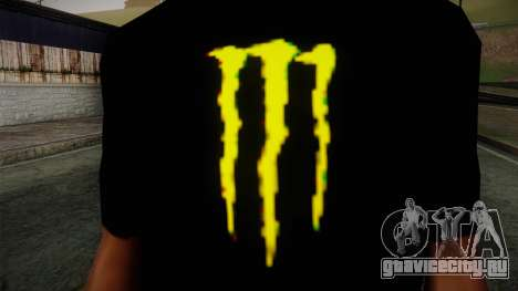 Monster Ripper Shirt Black для GTA San Andreas третий скриншот