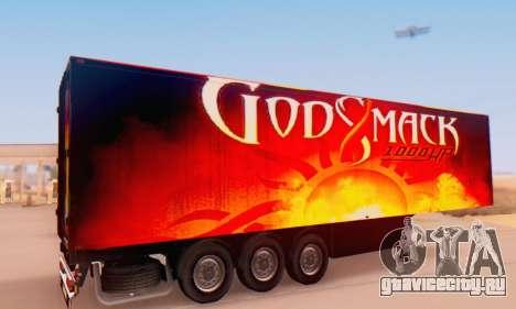 Godsmack - 1000hp Trailer 2014 для GTA San Andreas вид сзади слева