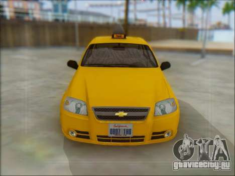 Chevrolet Aveo Taxi для GTA San Andreas