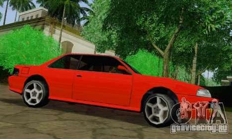 Sultan Coupe для GTA San Andreas вид сзади слева