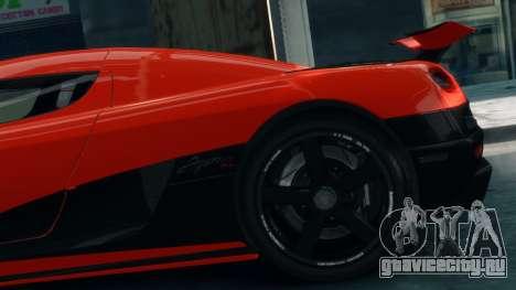 Koenigsegg Agera R 2013 для GTA 4 вид справа