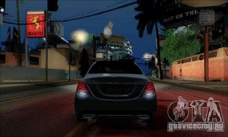 Mercedes-Benz C250 2014 V1.0 EU Plate для GTA San Andreas вид изнутри