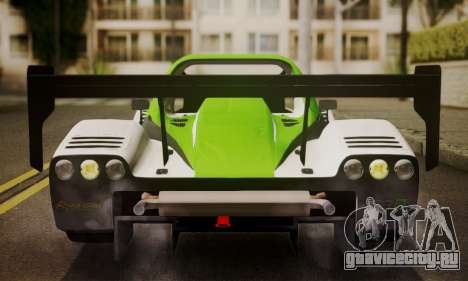 Radical SR8 Supersport 2010 для GTA San Andreas вид изнутри