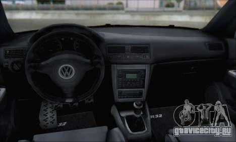 Volkswagen Golf MK4 R32 для GTA San Andreas вид снизу
