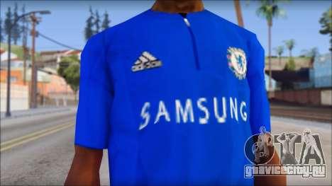 Chelsea F.C Drogba 11 T-Shirt для GTA San Andreas третий скриншот