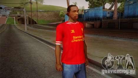 Liverpool FC 13-14 Kit T-Shirt для GTA San Andreas