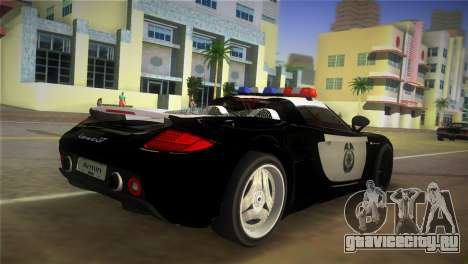 Porsche Carrera GT Police для GTA Vice City вид слева