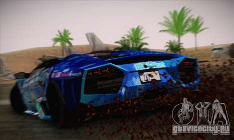 Lamborghini Reventon Black Heart Edition для GTA San Andreas вид слева