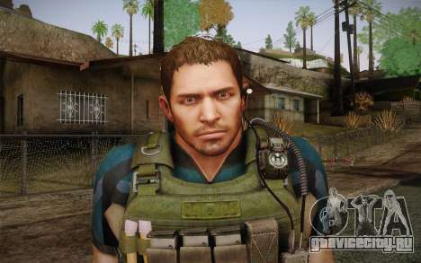 Chris Redfield from Resident Evil 6 для GTA San Andreas третий скриншот