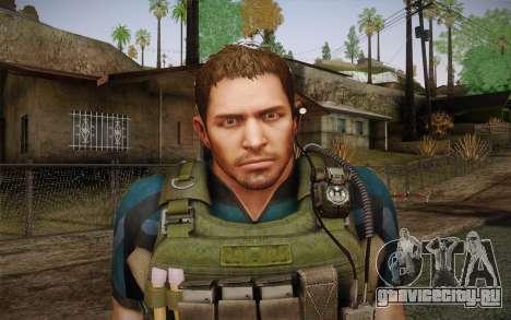 Chris Redfield from Resident Evil 6 для GTA San Andreas третий скриншот