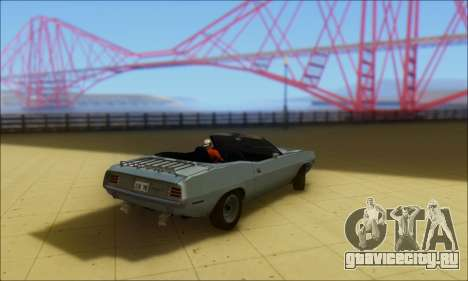 Plymouth Cuda 1970 Stock для GTA San Andreas вид слева