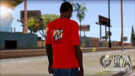 Duff T-Shirt для GTA San Andreas второй скриншот