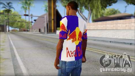 Red Bull T-Shirt для GTA San Andreas второй скриншот