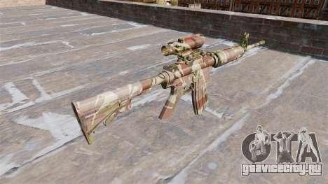 Автоматический карабин М4А1 Doll Camo для GTA 4 второй скриншот