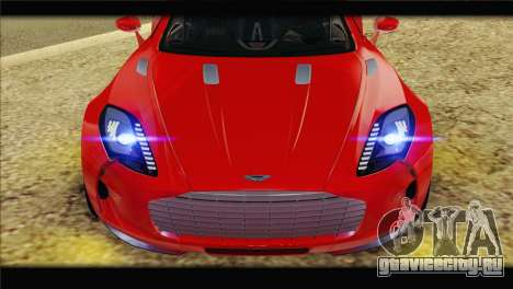 Aston Martin One-77 2010 для GTA San Andreas вид сзади