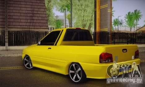 Kia Pride 132 для GTA San Andreas вид слева