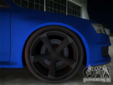 Audi RS6 для GTA Vice City вид сзади слева