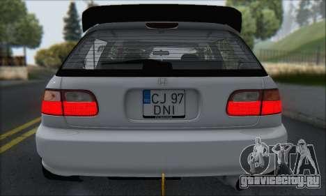 Honda Civic 1995 для GTA San Andreas салон